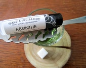 Absinthe Lip Balm - All Natural -Anise Peppermint Lemon Vanilla Flavored - Beeswax Lip Balm