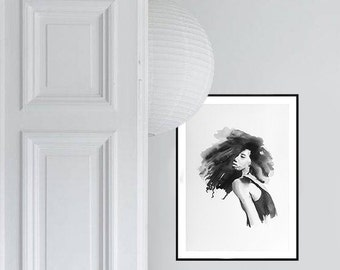 Watercolour Beauty Illustration - Art print