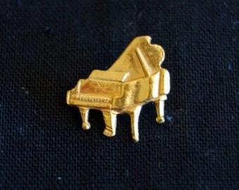 Vintage Gold Piano Brooch/Pin