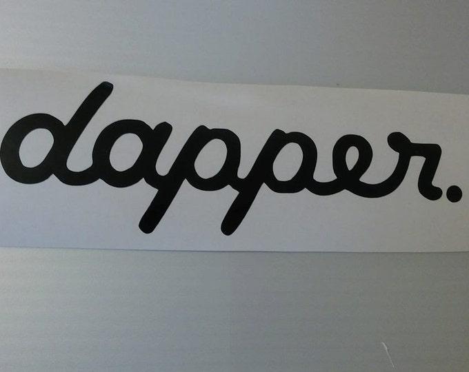 Dapper Vinyl Decal