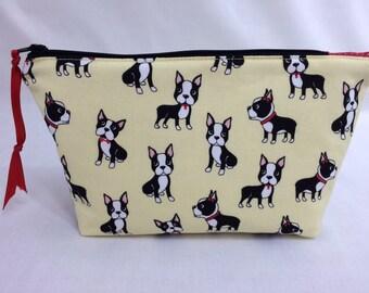 Boston Terrier Gadget Bag, Cosmetic Bag, Jewelery Bag, Gadget Bag