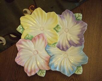 Bombay Co. 1992 Four-Flower Platter