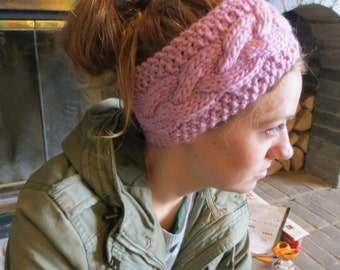 Wool pink headband