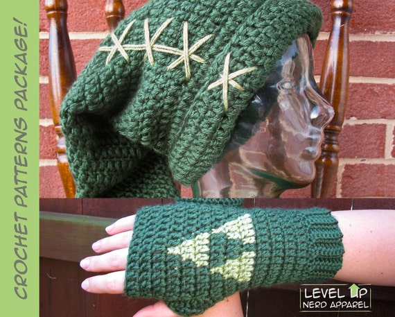 Legend of Zelda Crochet Pattern Super Package! Link hat and Triforce ...