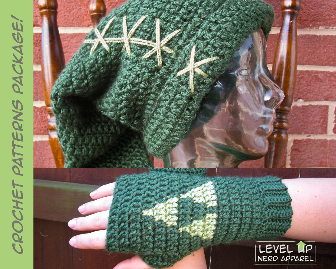 Legend of Zelda Crochet Pattern Super Package Link hat and
