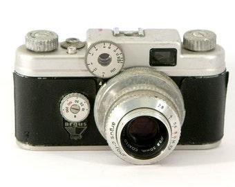 Vintage Argus C4 35mm Rangefinder Camera With Lens