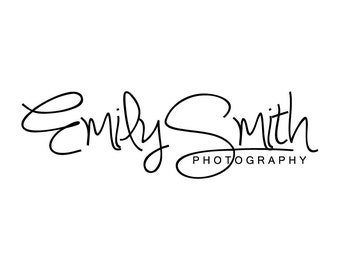 Signature Photography Logo Typography Logo and Watermark Design - Signature Premade Business Photography Logo Small Business Logo 121
