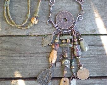 Prayer for the Ancestors Shaman Amulet Necklace