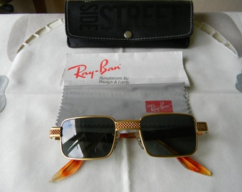 Vintage rare B&L Ray-Ban W 2827 ONAW Undercurrent Metal Square Sunglasses New Old Stock.Made in USA.