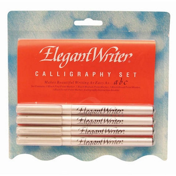 Elegant writer calligraphy kit 4 black calligraphy pens Elegant writer calligraphy pens