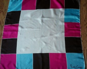 Vintage PIERRE CARDIN PARIS made in Italy silk scarf