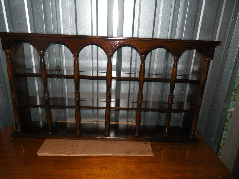 curio display wall mount shelf unit traditional american. Black Bedroom Furniture Sets. Home Design Ideas