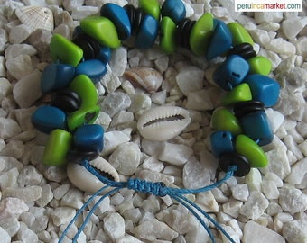 10 TAGUA bracelets vegetable Ivory from Peru  Amazon Forest eco Jewelry