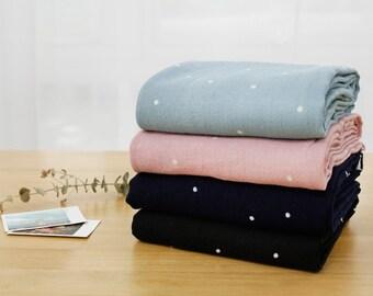 "Double Gauze Cotton Fabric by the yard Korea Gauze fabrics  100% cotton Wide Size 59"" _ Small Dot_KDDM-977957"