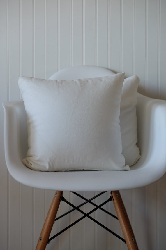 Throw Pillow Covers Set Of 4 : Set of 4 white cotton fabric decorative throw pillow covers