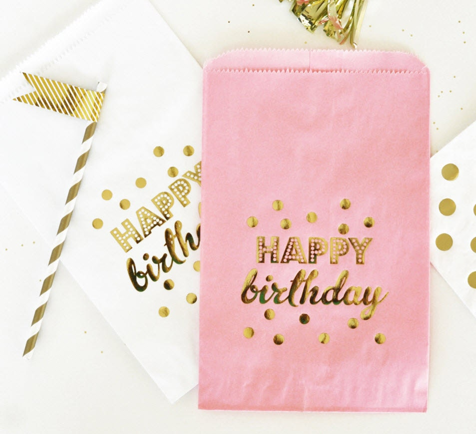 Birthday Party Bags Happy Birthday Candy Bags 1st Birthday
