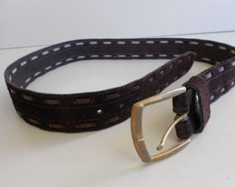 Vintage Genuine 1970's Suede Men's Belt 38-40
