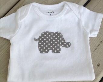 Grey Elephant Baby Onesie