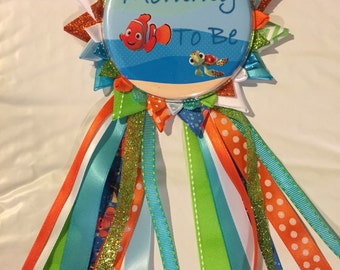 Under the sea mom to be button