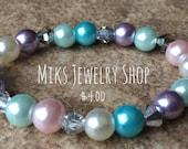 Flower Girl Jewelry, Flower Girl Bracelet, Flower Girl Gift, Girls Faux Pearl Bracelet, Girls Wedding Jewelry