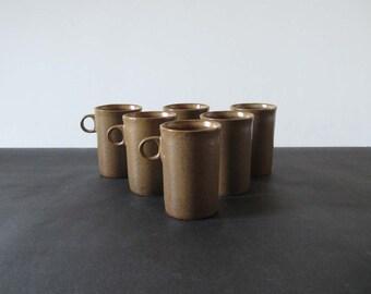 Set (6) Early David Gil #1370 Tall Espresso / Demitasse Cups - Bennington Potters 1960s