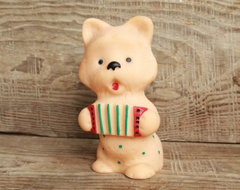 Rubber Toy ... vintage toy ... Dog ... Child ... Baby ... Doggy ... children's vintage Soviet toy
