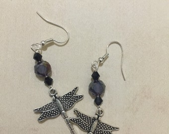 Dragonfly watch the dragon fly - simple drop earrings