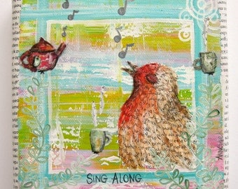 Mixed Media collage Sing Along