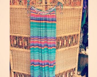 70's stripped dress