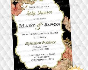 Floral Invitation (Digital file)
