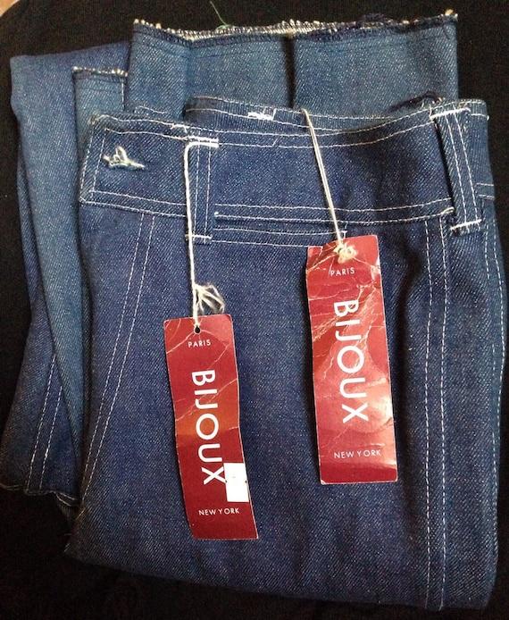 Vintage 70s High Waist Bijoux Brand Jeans //NWT Sz 12 old