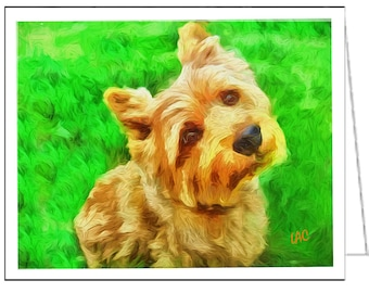 Norwich Terrier - Set of 6 blank notecards and envelopes by Doggylips …
