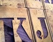 Vintage Brass Stencils / 4 inch Stencils / Brass Letters / Brass Stencil / Industrial Decor / Word Sign / Mixed Media / Word Art / Metal Art
