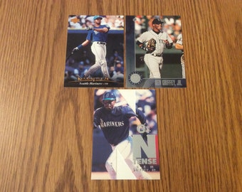 "3 Ken Griffey Jr. Cards featuring ""N Tense"" Insert"