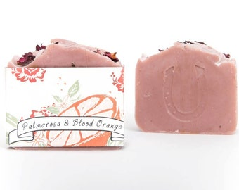 Palmarosa and Blood Orange Clay Soap, Vegan, Cold Process Soap, Hand crafted, Victoria BC, Vancouver Island