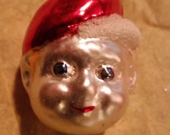 Vintage Mercury Glass Christmas Ornament