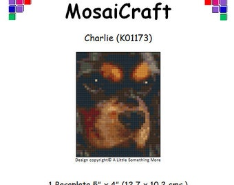 MosaiCraft Pixel Craft Mosaic Art Kit 'Charlie' (Like Mini Mosaic and Paint by Numbers)