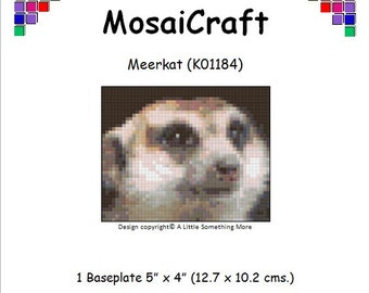 MosaiCraft Pixel Craft Mosaic Art Kit 'Meerkat' (Like Mini Mosaic and Paint by Numbers)