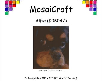 MosaiCraft Pixel Craft Mosaic Art Kit 'Alfie' (Like Mini Mosaic and Paint by Numbers)