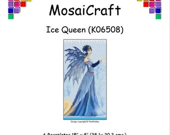 MosaiCraft Pixel Craft Mosaic Art Kit 'Ice Queen' (Like Mini Mosaic and Paint by Numbers)