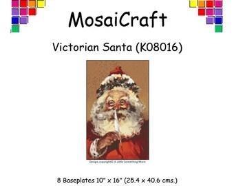MosaiCraft Pixel Craft Mosaic Art Kit 'Victorian Santa' (Like Mini Mosaic and Paint by Numbers)
