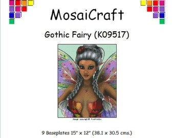 MosaiCraft Pixel Craft Mosaic Art Kit 'Gothic Fairy' (Like Mini Mosaic and Paint by Numbers)