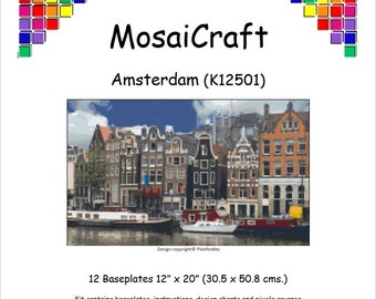 MosaiCraft Pixel Craft Mosaic Art Kit 'Amsterdam' (Like Mini Mosaic and Paint by Numbers)