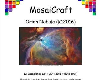 MosaiCraft Pixel Craft Mosaic Art Kit 'Orion Nebula' (Like Mini Mosaic and Paint by Numbers)