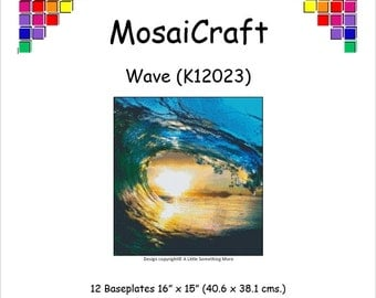 MosaiCraft Pixel Craft Mosaic Art Kit 'Wave' (Like Mini Mosaic and Paint by Numbers)