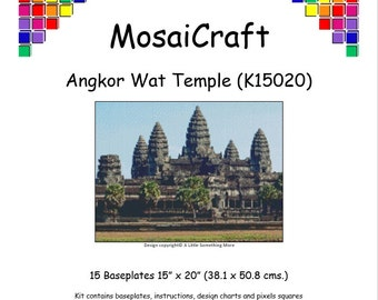 MosaiCraft Pixel Craft Mosaic Art Kit 'Angkor Wat Temple' (Like  Mini Mosaic andPaint by Numbers)