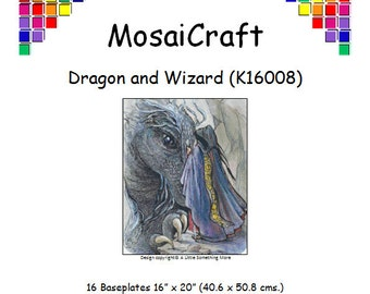 MosaiCraft Pixel Craft Mosaic Art Kit 'Dragon And Wizard' (Like  Mini Mosaic andPaint by Numbers)