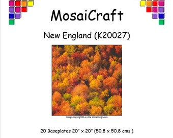 MosaiCraft Pixel Craft Mosaic Art Kit 'New England' (Like Mini Mosaic and Paint by Numbers)