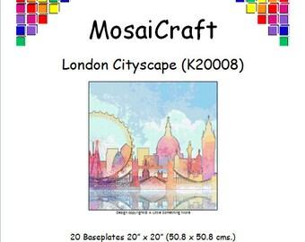 MosaiCraft Pixel Craft Mosaic Art Kit 'London Cityscape' (Like Mini Mosaic and Paint by Numbers)