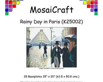 MosaiCraft Pixel Craft Mosaic Art Kit 'Rainy Day In Paris' (Like Mini Mosaic and Paint by Numbers)